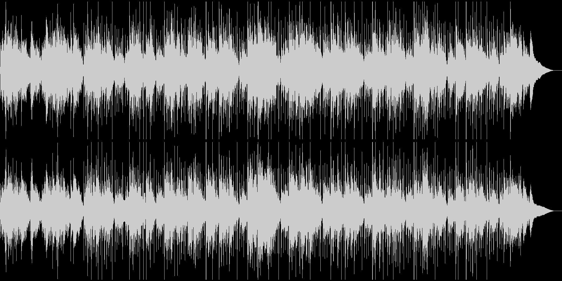 生アコギとパーカッションのゆったり曲の未再生の波形