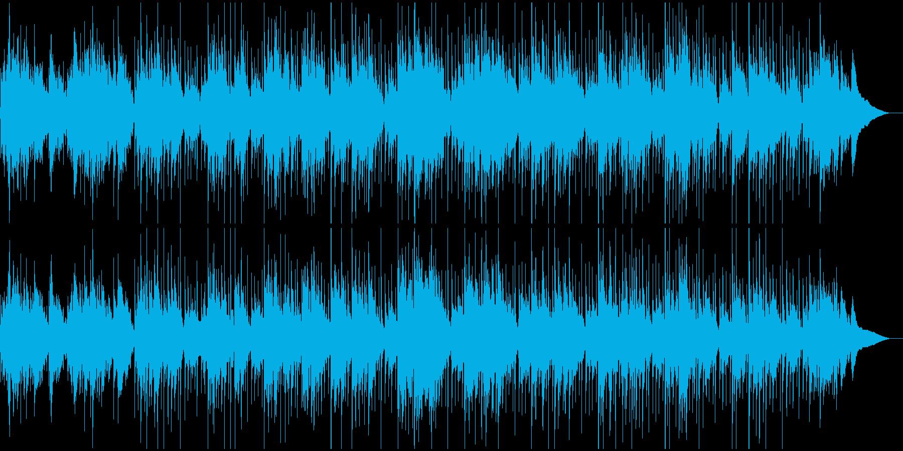 生アコギとパーカッションのゆったり曲の再生済みの波形
