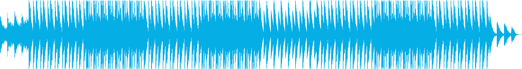病的・猟奇的なトラップビートの再生済みの波形