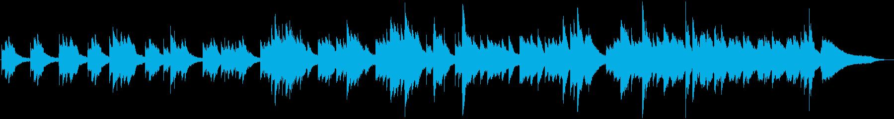 眠りのためのソロピアノ曲の再生済みの波形