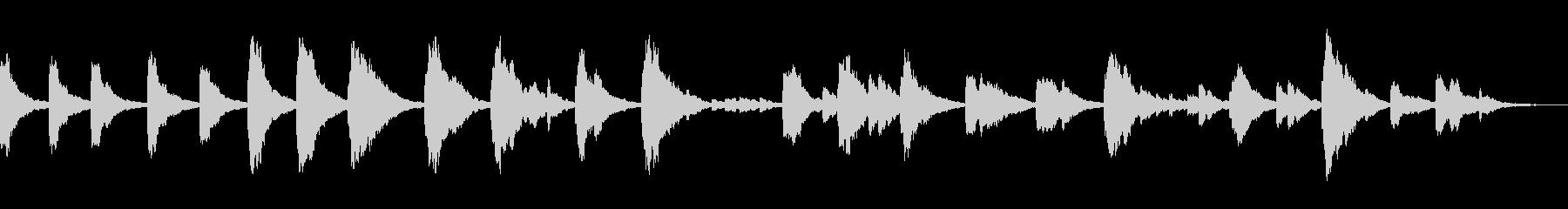 深めのリバーブ感のスローテンポソロピアノの未再生の波形