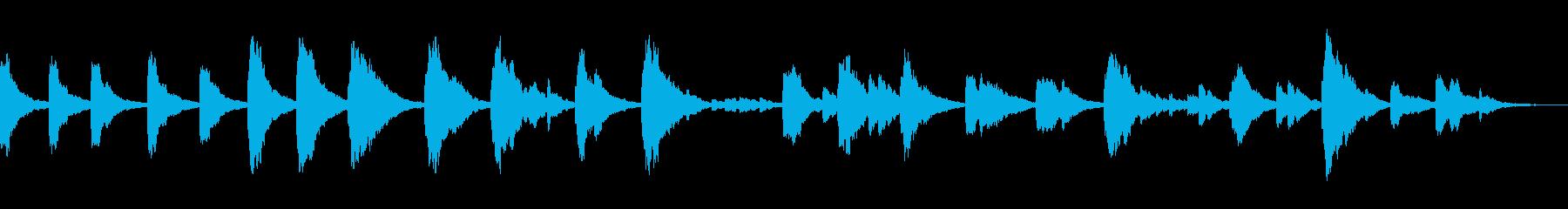 深めのリバーブ感のスローテンポソロピアノの再生済みの波形