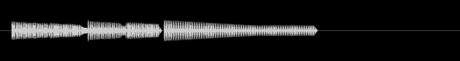 レトロゲーム・和風のジングル3の未再生の波形