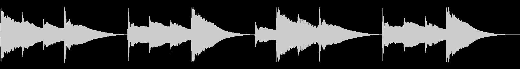 キンコンカンコン。学校チャイム(高)の未再生の波形