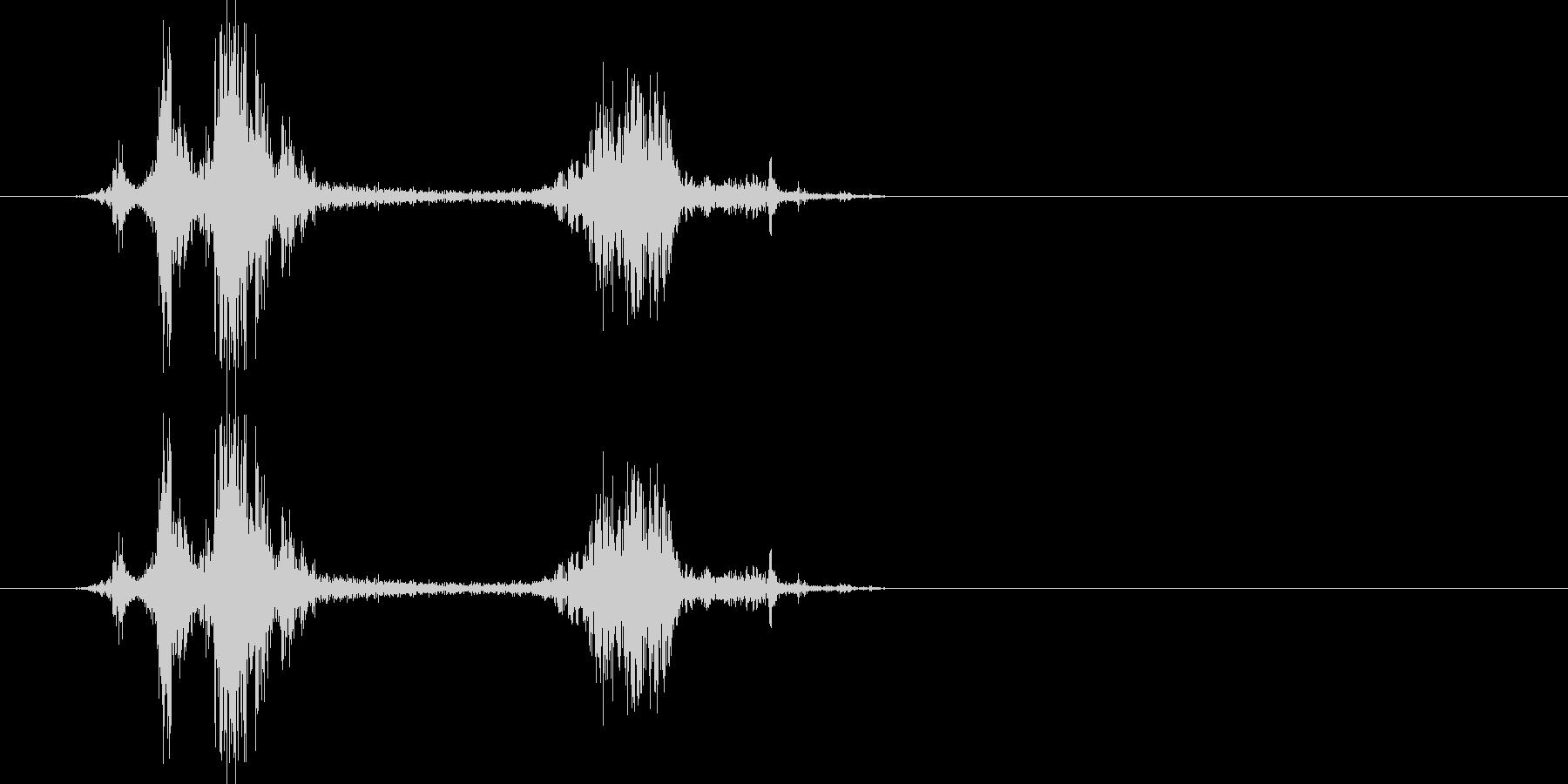 カメラのシャッター音2(クワッシッ)の未再生の波形