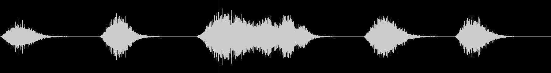 爆発、水中効果のソフトアタック、5xの未再生の波形