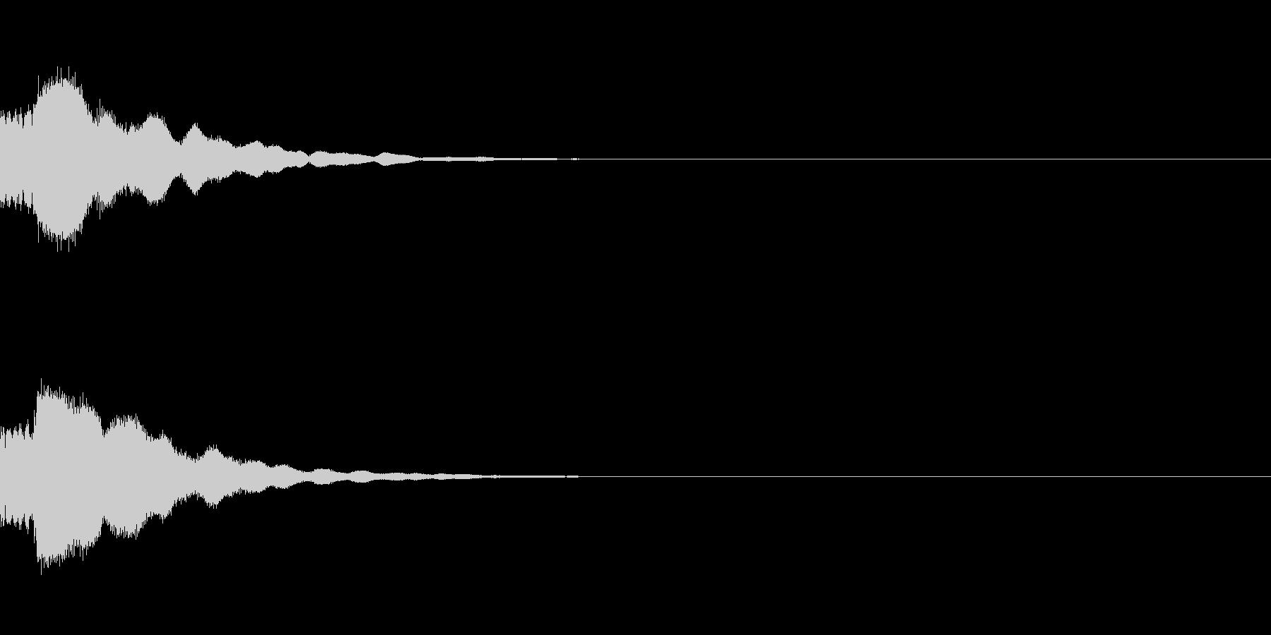 きれい系システム音 ティロン★(下がる)の未再生の波形