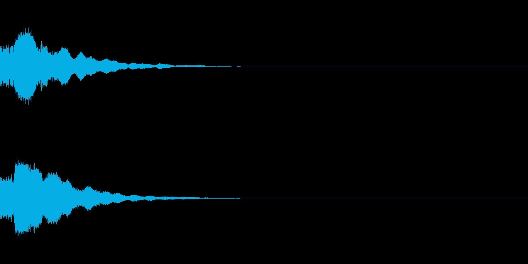 きれい系システム音 ティロン★(下がる)の再生済みの波形