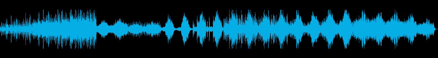 軽快で明るめのオーケストラ曲の再生済みの波形