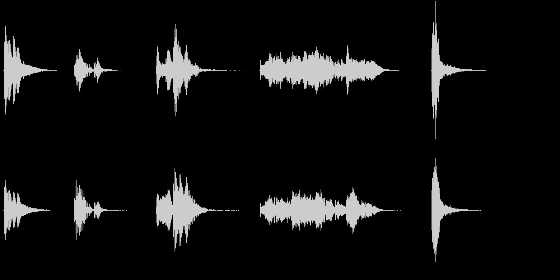 トムとジェリー風アニメ音楽「ウィンク」2の未再生の波形