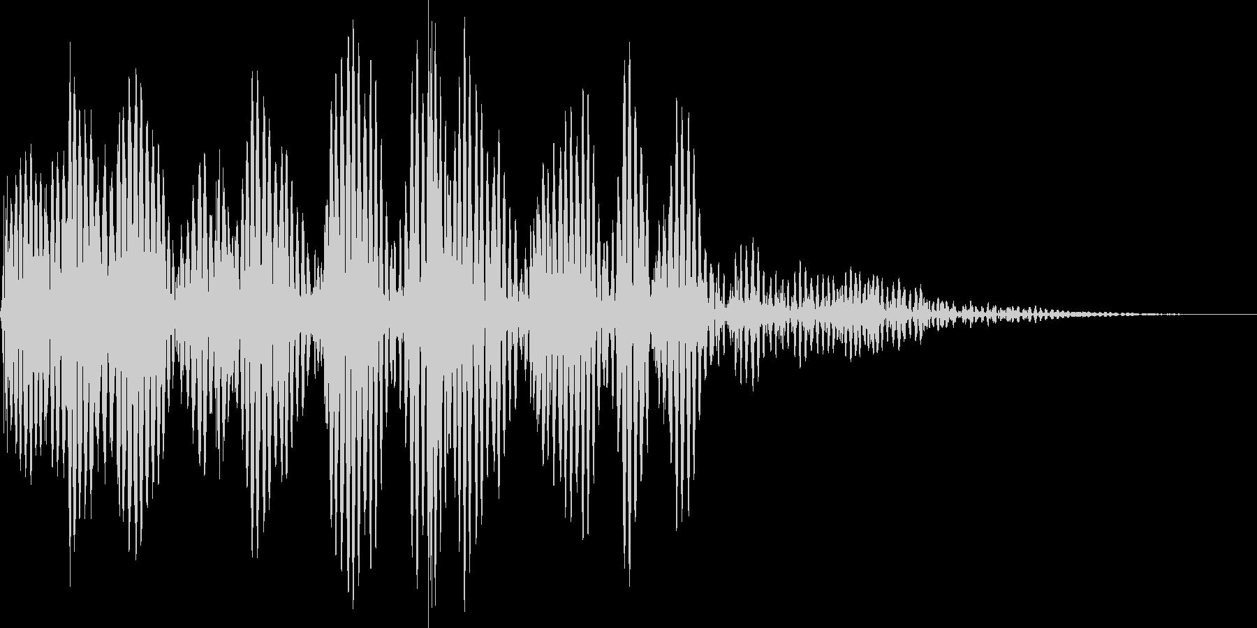 筐体が揺れるような衝撃音の未再生の波形