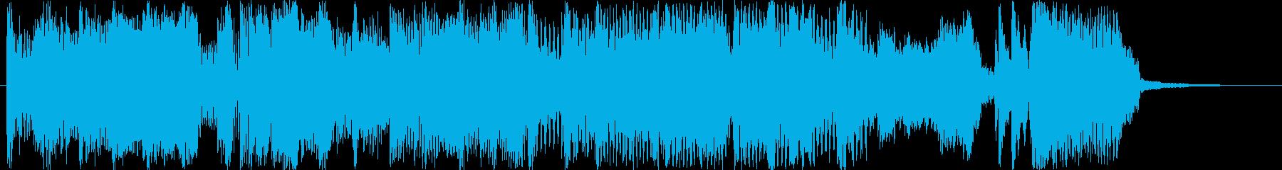 15秒アコーディオンジングルCMの再生済みの波形