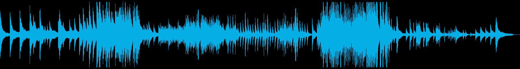しっとりしたピアノソロバラードの再生済みの波形