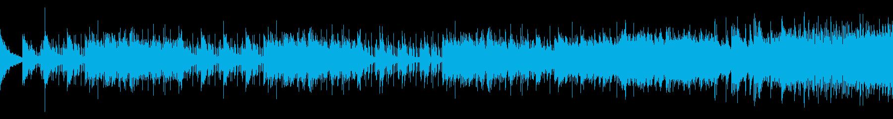 悲しいけれど力強いピアノとドラム/ループの再生済みの波形