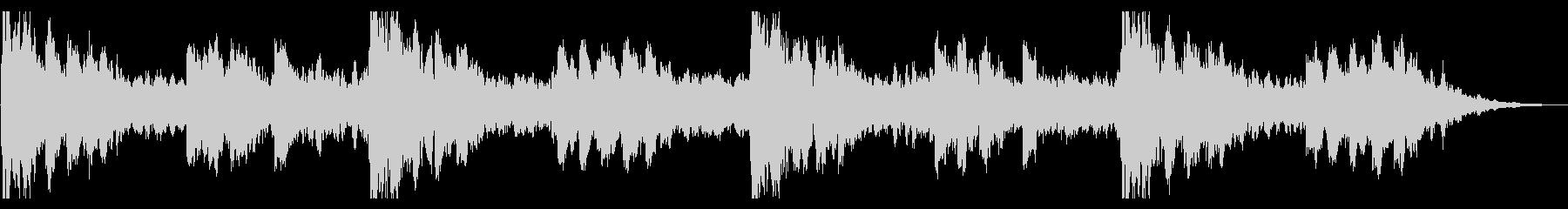 オルゴールの旋律が不気味なホラー曲の未再生の波形