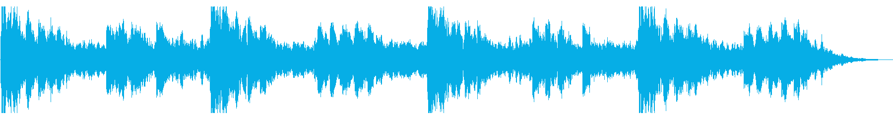 オルゴールの旋律が不気味なホラー曲の再生済みの波形