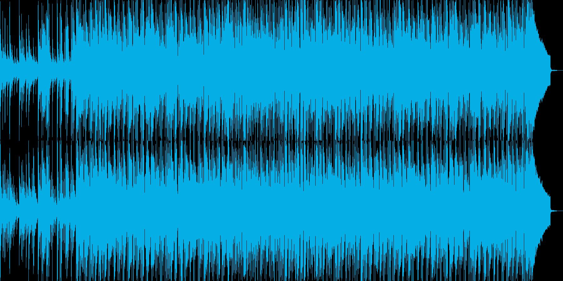 琴の音をフィーチャーした和風なBGMの再生済みの波形
