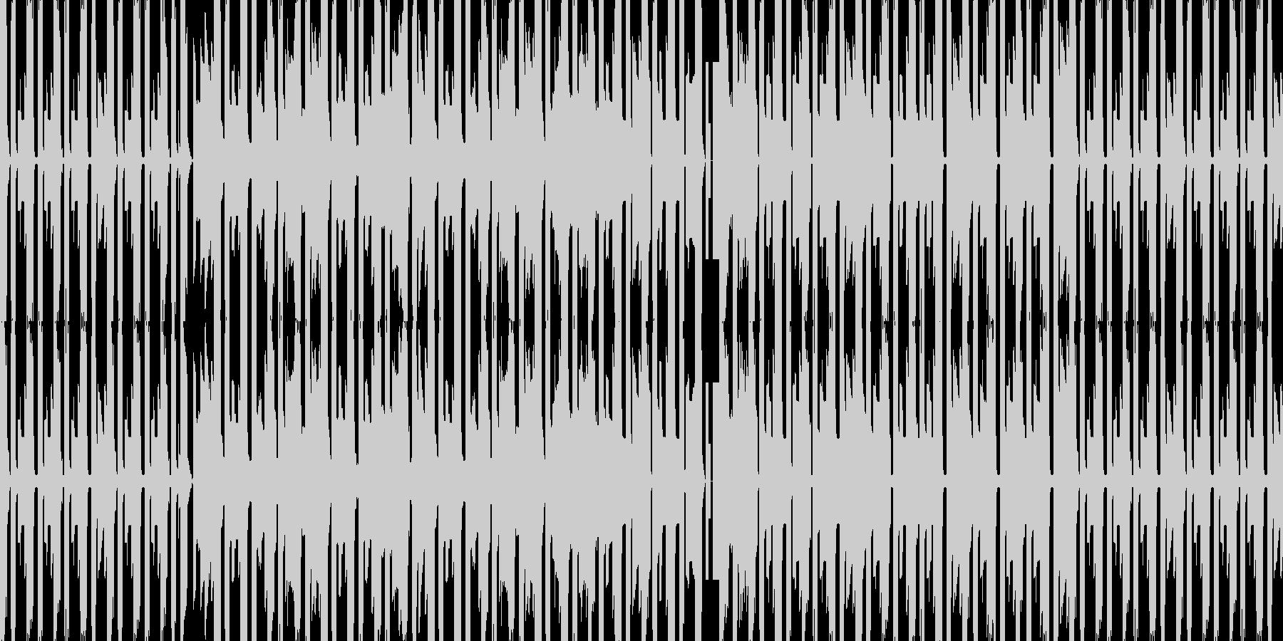 チップチューン風の作戦会議的なBGMの未再生の波形