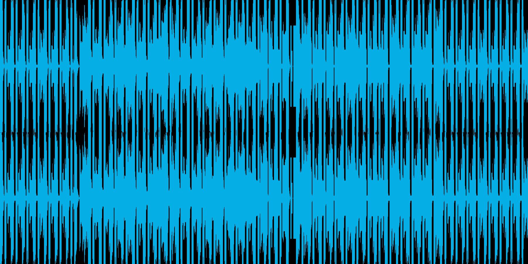 チップチューン風の作戦会議的なBGMの再生済みの波形