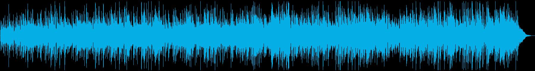 軽快なビー・パップ調JAZZのBGMの再生済みの波形