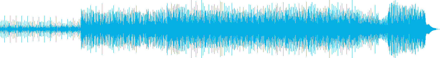アグレッシブでエキサイティングなテクノの再生済みの波形