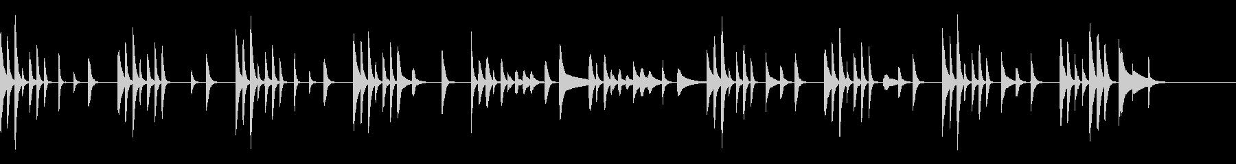 木琴・シロフォン中心のかわいいまったり曲の未再生の波形
