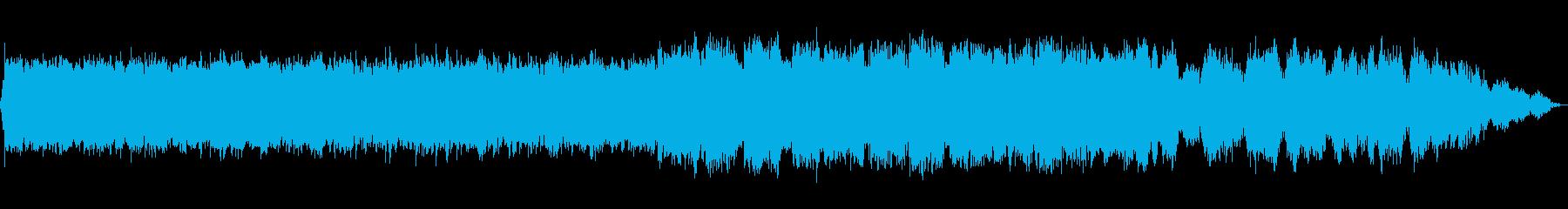 民俗的な哀愁のある笛のBGMの再生済みの波形