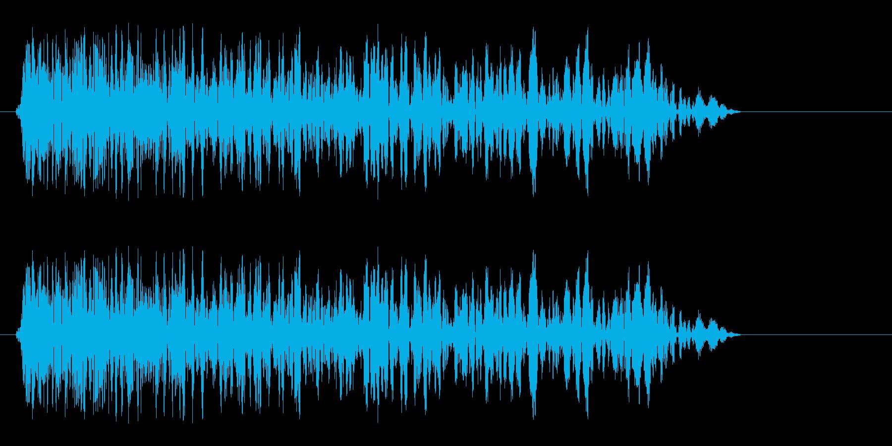 ピュンっと風を切る効果音の再生済みの波形