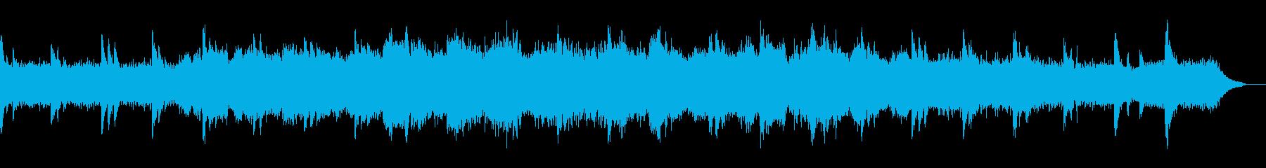 神秘的に広がるオーケストラ曲の再生済みの波形