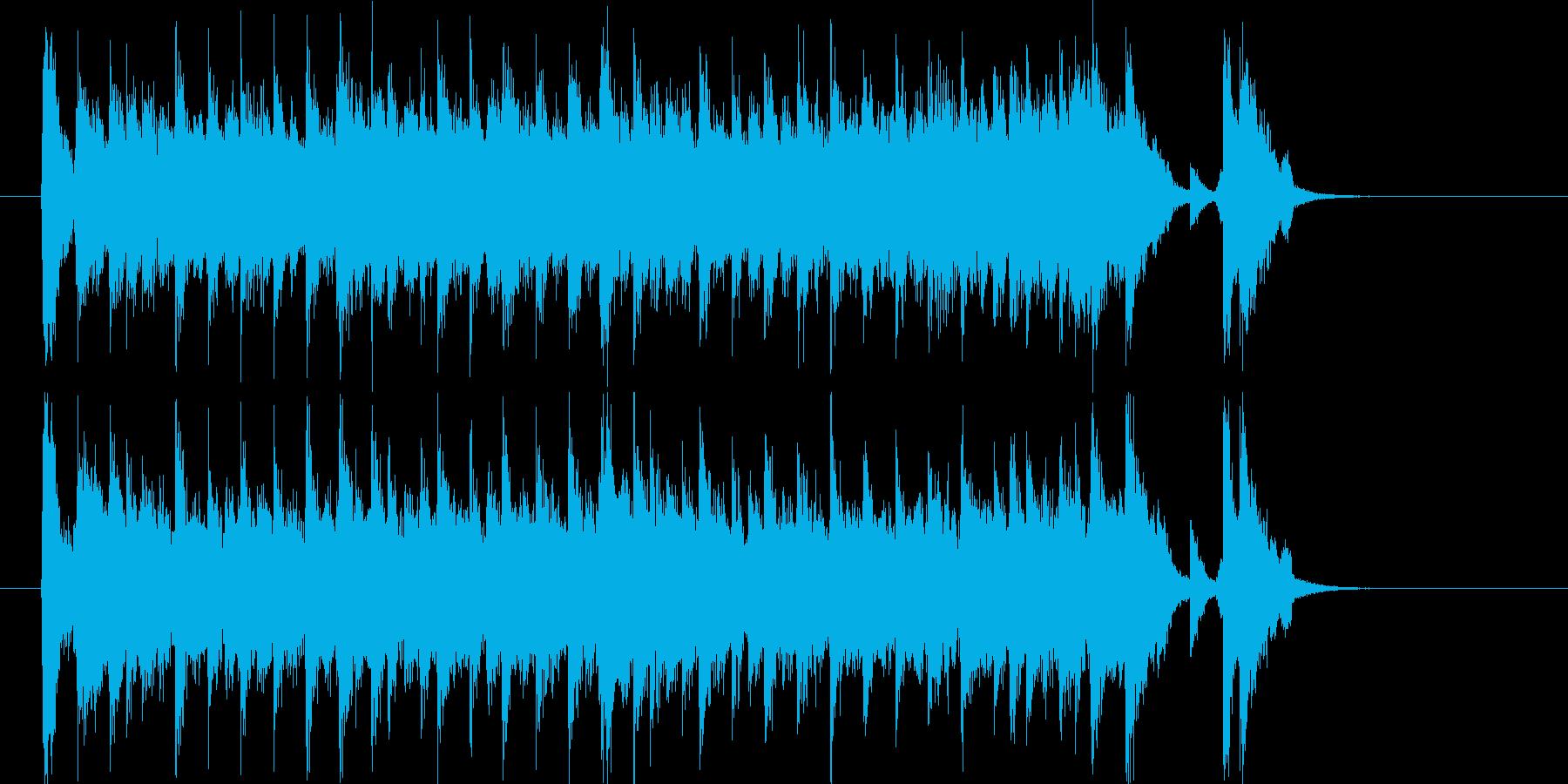 夏を感じさせる爽やかエレキポップジングルの再生済みの波形