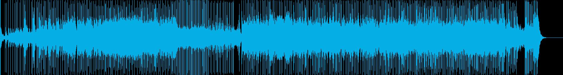 和楽器による疾走感のある日本風BGMの再生済みの波形
