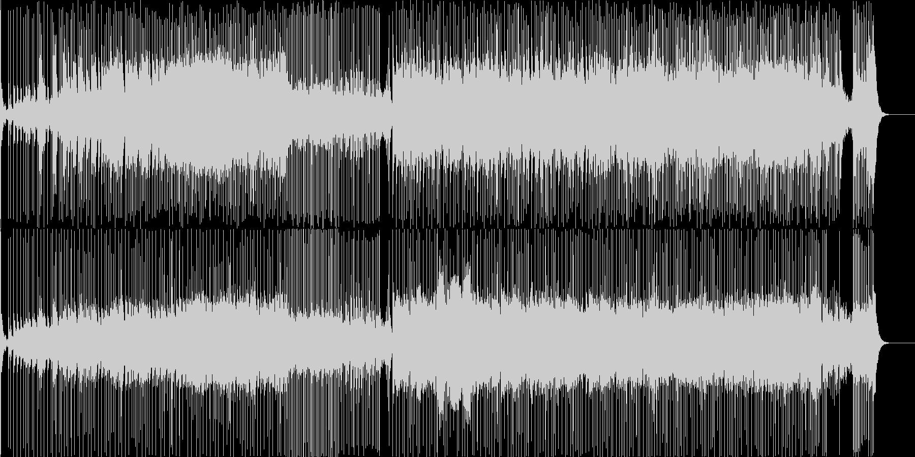 和楽器による疾走感のある日本風BGMの未再生の波形
