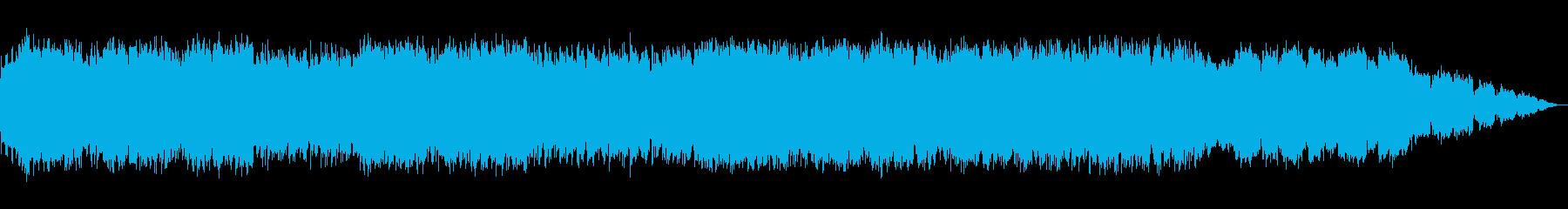 エスニックな竹笛の即興音楽の再生済みの波形