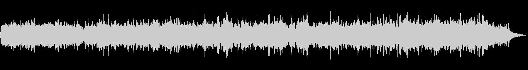 ピアノとシンセサイザーのほのぼのBGMの未再生の波形