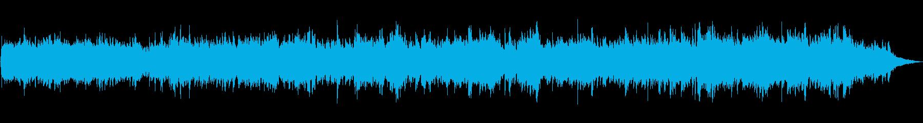 ピアノとシンセサイザーのほのぼのBGMの再生済みの波形