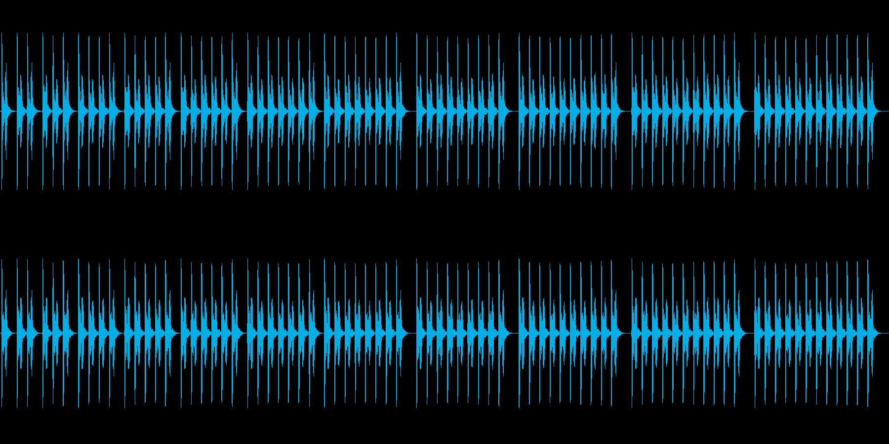 (ポッポ)レトロな鳩時計の時報の再生済みの波形