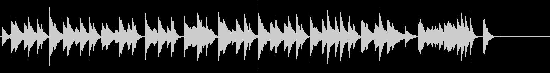 猫動画に♪ほっこりのんびりピアノジングルの未再生の波形