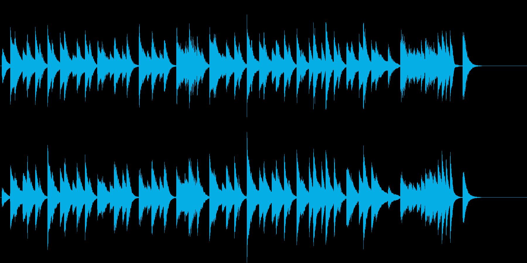猫動画に♪ほっこりのんびりピアノジングルの再生済みの波形