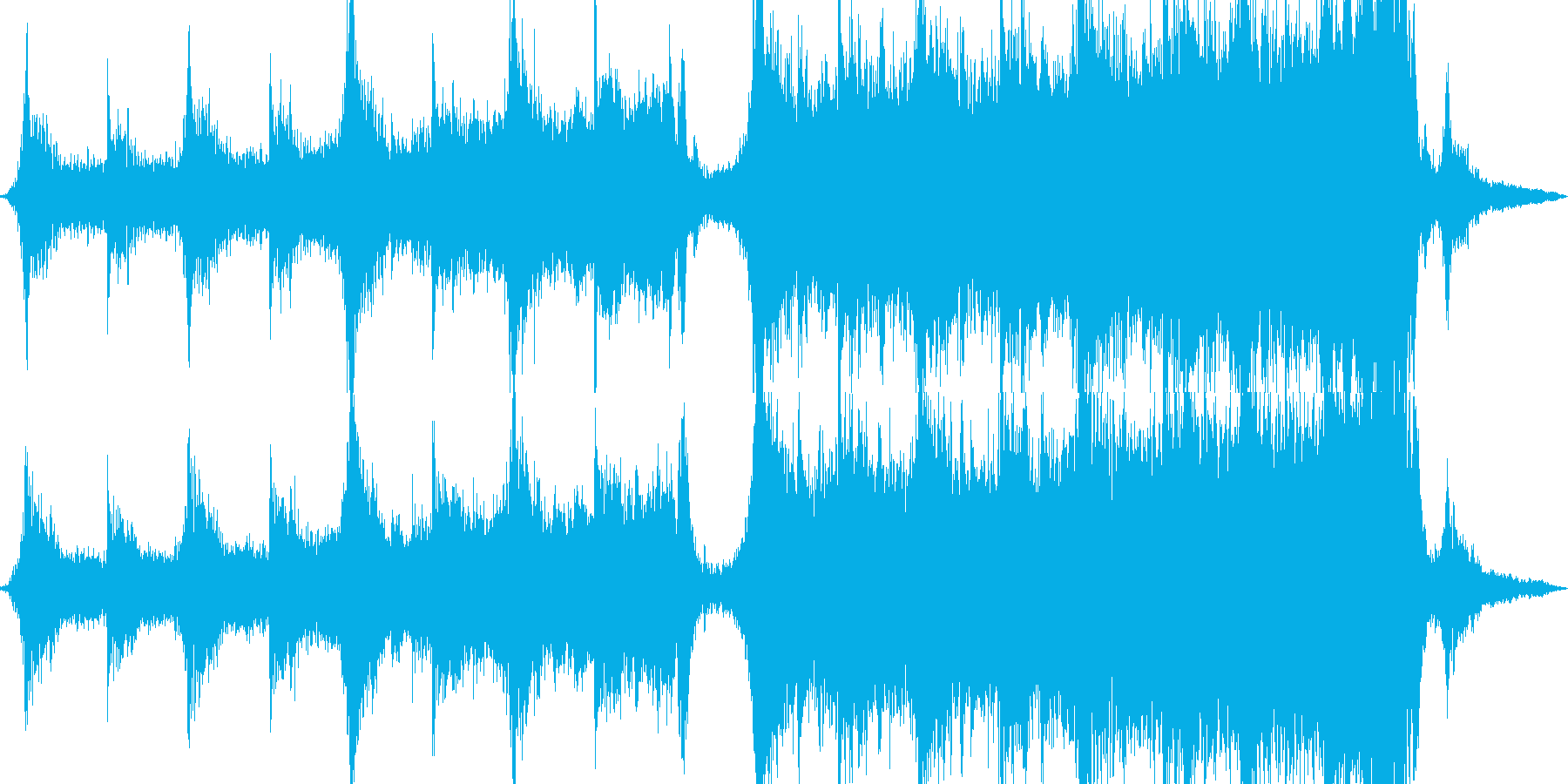 映画オーケストラの予告編の再生済みの波形