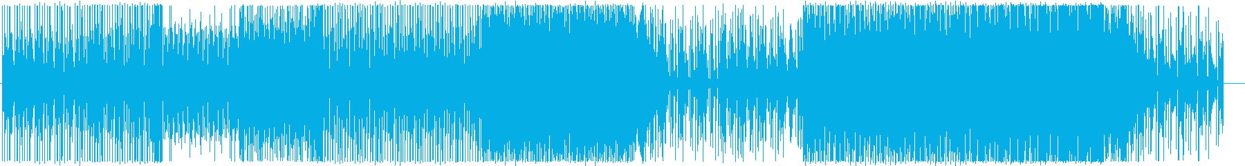 クールで落ち着いたテンポのBGMの再生済みの波形