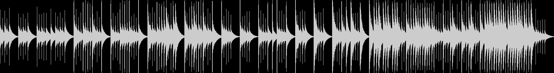 オルゴールで悲しい曲、別れ(ループ)の未再生の波形