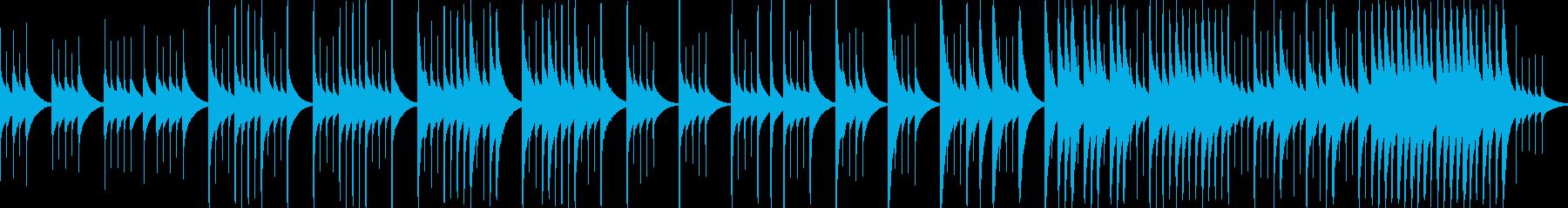 オルゴールで悲しい曲、別れ(ループ)の再生済みの波形