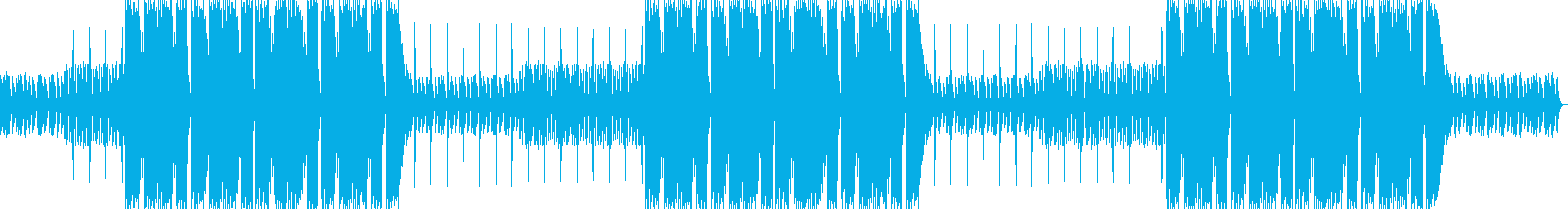TikTok、ピアノハードトラップビートの再生済みの波形