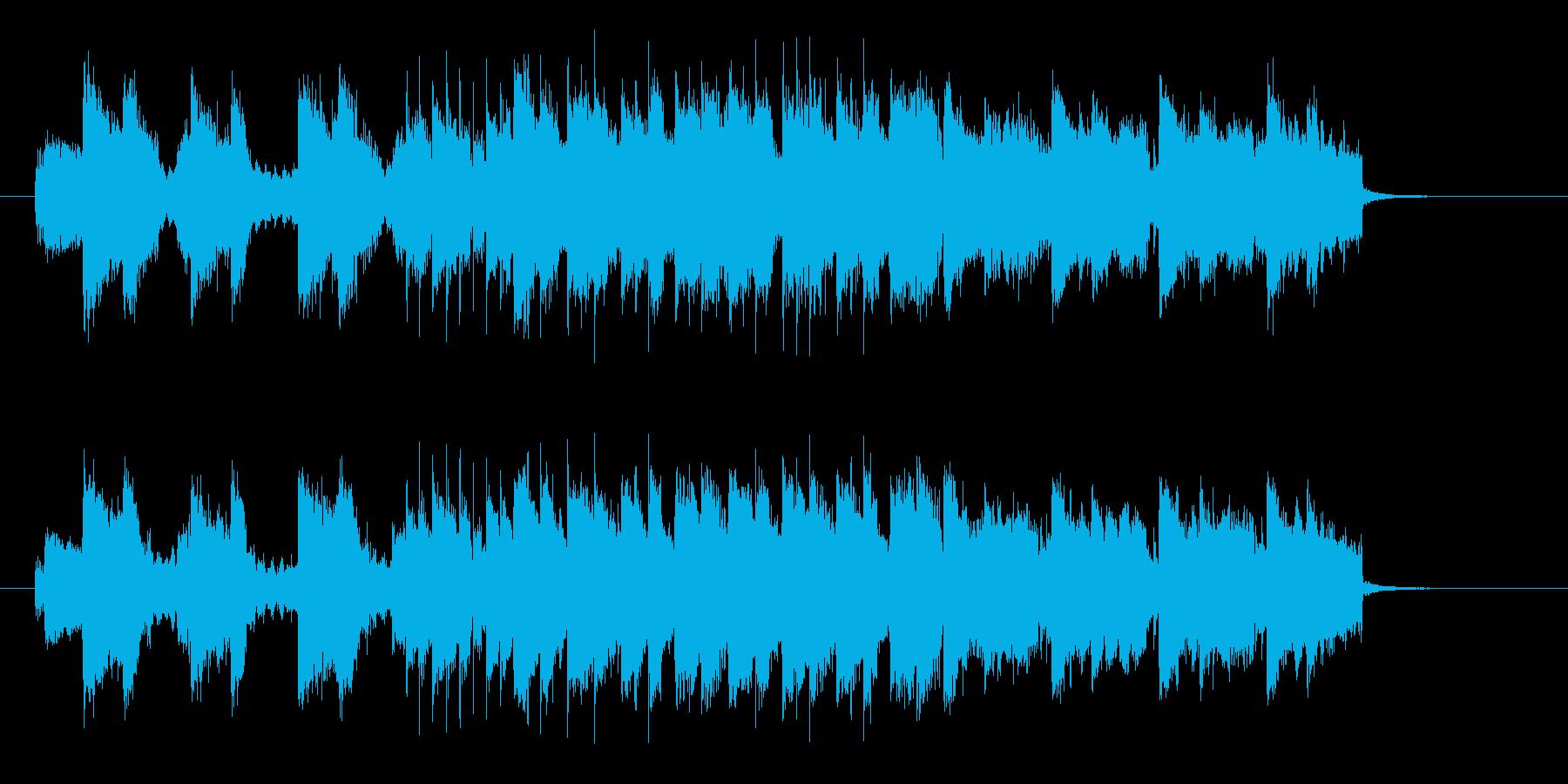 アップテンポで疾走感あるギターの曲の再生済みの波形