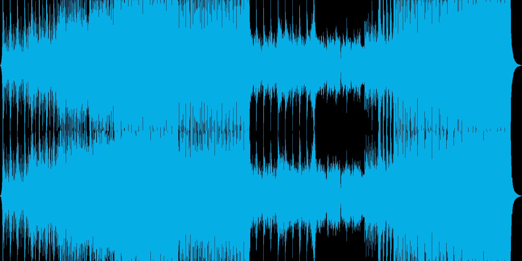 戦闘シーンなどに最適な劇判音楽の再生済みの波形
