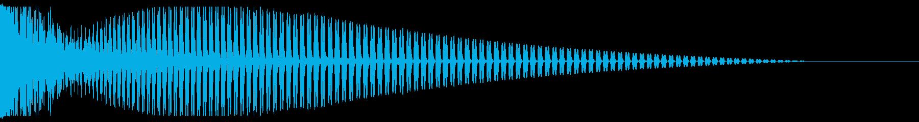 バーン(打楽器を強く叩きつける音)の再生済みの波形
