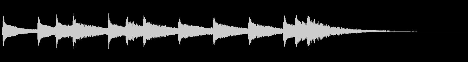 7,少し切ないサウンドロゴ (3秒ロゴ)の未再生の波形