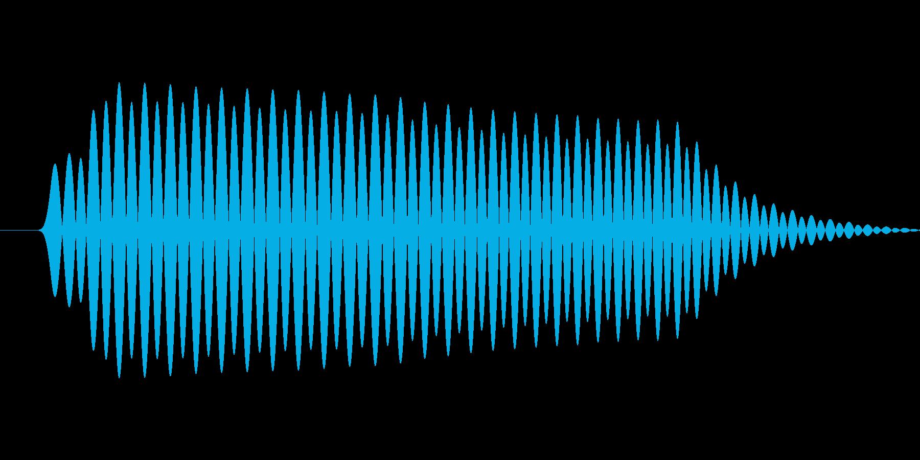 軽めのクリック音の再生済みの波形