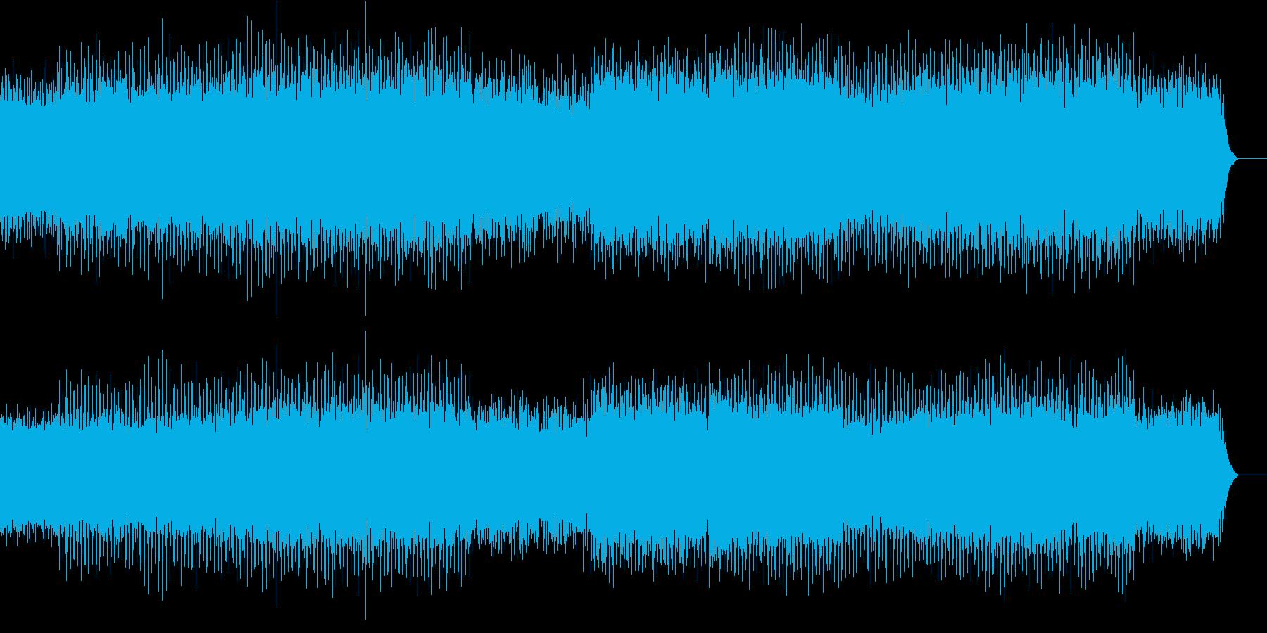 モダンなピアノ打ち込みトラックの再生済みの波形
