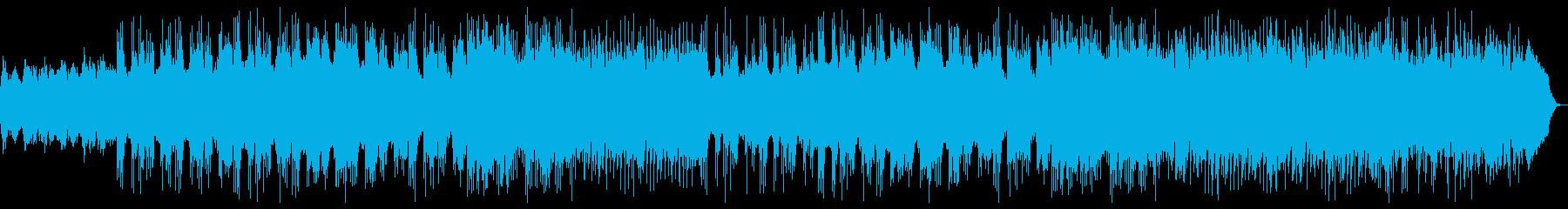 スロー、ダークなヘビーメタルBGMの再生済みの波形